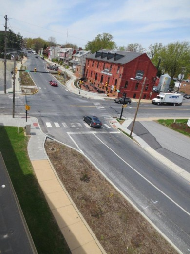 Image of Lancaster's North Plum & East Walnut Street project recognized as Ultra-urban BMPs Grand Prize Winner for 2014.